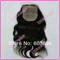"""12"""" #1 Body Wave Silk Base Closure  Brazilian Virgin Hair (4""""*4"""")"""