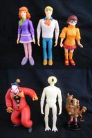 "Scooby Doo Set 6 Pcs PVC Loose 2""-4"" Action Figure Hanna-Barbera"