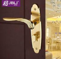 2013 High-class european-style room door lock,Hold hand lock,24 k gold Double lock tongue,Free shipping