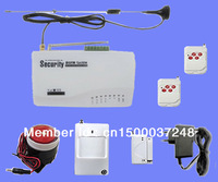 Wired 4+wireless 6 defend zones Wireless Home Intelligent Burglar GSM Alarm System with Russian / English manual