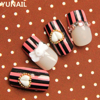 Free shipping Magazine vertical stripe combination false nail personality nail art patch