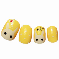 Free shipping Short finger small onrabbit cream short design false nail art nail finished products sclerite