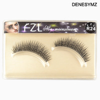 Free shipping Make-up supplies crystal transparent false eyelashes glue belt boxed cross thick type 1 paragraph