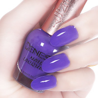 Free shipping Diamond series denesy organic eco-friendly nail polish purple 15ml oil