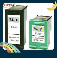 Free shipping 3PK CB336WN CB338WN Remanufactured Ink Cartridge for HP74XL/75XL Officejet J5725 J5700 Deskjet D4260 D4280 D4360