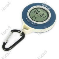 1pcs Digital Waterproof 6in1 Compass Altimeter Barometer Weather Thermometer Clock Blue Backlight - W002
