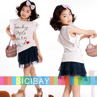 Little Girls Mini Skirts Free Shipping Summer Little Girl Dark Blue Skirts,Kids New Fashion Wear  K0405