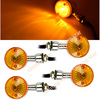 4PCS hot selling Universal Motorcycle Turn Signals Indicators Chrome Turning Lights Lamp Bulb TK_CB183(China (Mainland))
