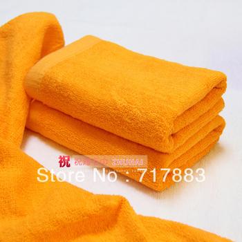 Free shipping,Cheap price Good Quality Hotel Towel,100% Cotton 35*73cm White/Pink/Green/Orange Bath Towel Zh022