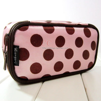 Dot double layer cosmetic bag cosmetic bag make-up bag multicolor