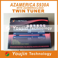 Azamerica S930A N3 Nagra3 Twin Tuner support wifi South America with SKS hispasat atlantic Bird Satellite TV Receiver ,