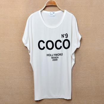New arrivals Summer women Korean letter loose batwing short sleeve O-neck Cotton T-shirt Plus/large Size free shipping LJ285