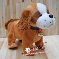 Singing can walk of plush toys dog