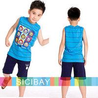 Boy's Suit Summer Casual Sets Kids Clothing Free Shipping Boys Summer Leisure Suits Cartoon Tshirts + Shorts,Fashion Sets  K0429