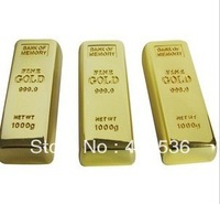 Gold bar usb wholesale gift factory can be customized customer LOGO gold U disk high-grade gold U disk