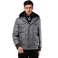 Free shipping  2012 BOSIDENG men's clothing with a hood rib knitting short down coat 121408028 design