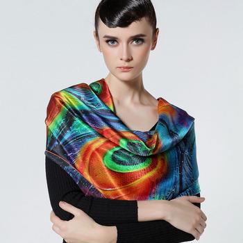 Quality digital silk scarf eco-friendly print silk scarf elegant scarf all-match