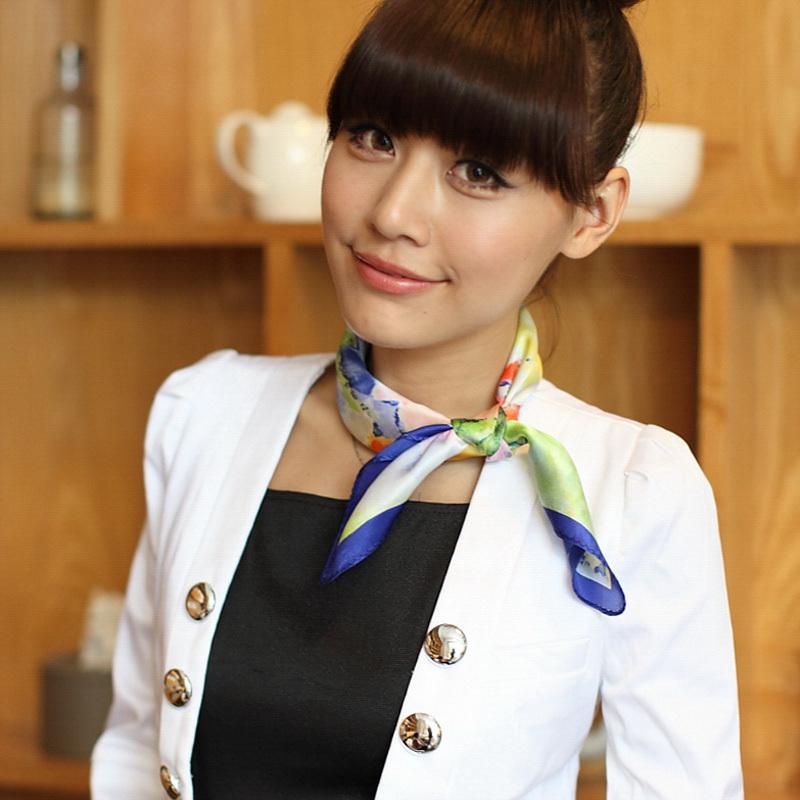 All-match fashion silk scarf silk scarf squareinto multicolour elegant scarf