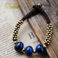 Unique indigotine national trend stone accessories bracelet