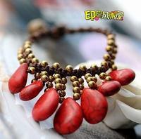 - unique handmade drop turquoise bells accessories bracelet