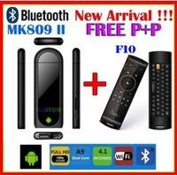 MK809 ii MK809ii with Mele F10 Wireless Air Mouse keyboard TV Box Android 4.1 Mini PC Stick 1080P 8GB Bluetooth Free Shipping