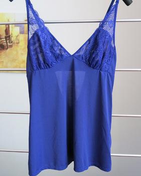 Sy-2 ongossamer navy blue spaghetti strap sleepwear