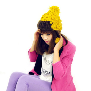 Free Shipping Ear protector cap thickening thermal women's hat knitted hat winter cap winter women cap knitted hat