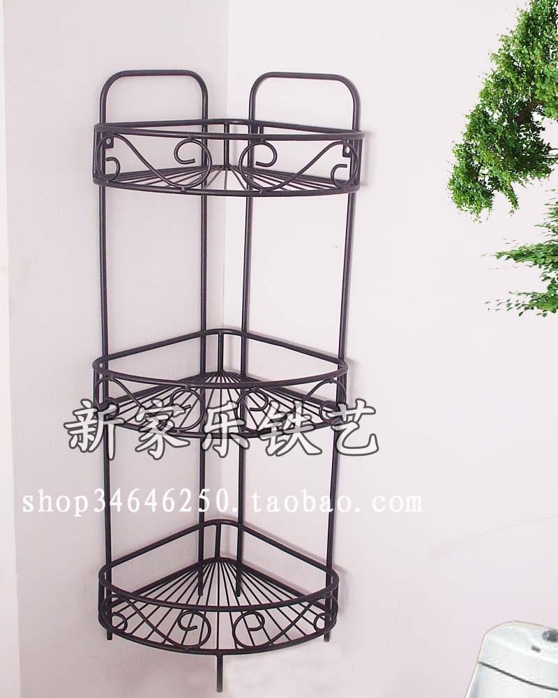 popular wrought iron corner shelves from china best. Black Bedroom Furniture Sets. Home Design Ideas