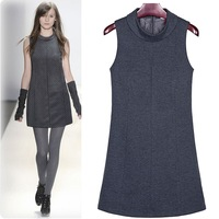 2013 Pugshop 2013 women's spring short-sleeve o-neck sleeveless tank dress fashion one-piece dress new