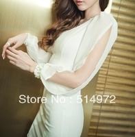 Best selling!!High quality New Fashion Strapless elegant Chiffon Dress sexy dress free shipping
