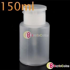 150ML Plastic Nail Art Pump Dispenser Spray Bottle New #6357