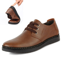 free shipping men's single shoes daily casual leather shoes male  genuine leather  casual shoes