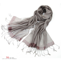 Silk cotton blending high quality silk scarf women&#39;s scarf cape 11