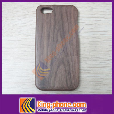 Free shipping (500 pieces/lot) for iphone 5'' case pure wood cover(China (Mainland))