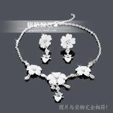 Bridal necklace earrings 2 piece bridal necklace set the bride necklace accessories embellishment marriage accessories