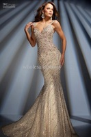 2013 New Sexy Sweetheart Spaghetti Straps Prom Dresses Rhinestones Mermaid Evening Dresses