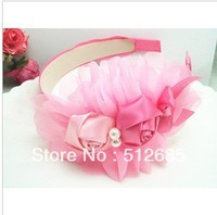 {Min.Order $15}3pcs/Lot New Kids/Girl/Princess/Baby Ribbon Flower Rose  Hair Band/Hair Accessories