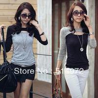 Best selling!!slash neck women Primer shirt slim render unlined female Blouse free shipping