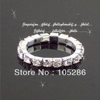 Retail sale 10pcs Fashion wedding ring stretch rhinestone ring Jewelry ring  Fast delivery free shipping