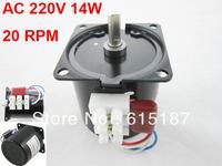 60KTYZ-K7011 220V 20RPM AC 220V 20RPM 14W 60mm Body Diameter Synchronous Reduction Gear Motor