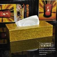 Gold acrylic tissue box ktv home supplies decoration