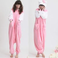 Hello kitty cute coral fleece women sleepwear homewear lady's pajamas/pyjamas nightwear