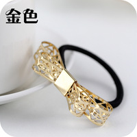 Min.order is $5 (mix order)Free Shipping,Trendy Bow Hair bands,  elastic Hair bands ties(OH0009-1)
