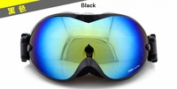 DEX Ski Motorcycle Goggles Sun Glasses Case Anti-Fog Dual Lens Colors Black
