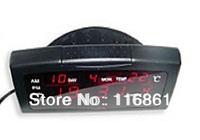 6PCS EMS Free shipping Digital LED Alarm Clock