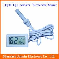Digital Egg Incubator Thermometer Sensor Hygrometer White Color Free Shipping