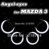 8000k ultra white CCFL Angel eyes halo Rings kit for Mazda3 car light(4rings +2inverters), angel eyes kit for mazda3