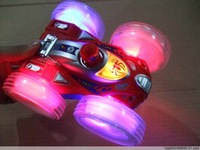 Electric double faces toy car music flip car stunt car 180 degrees rotation toy