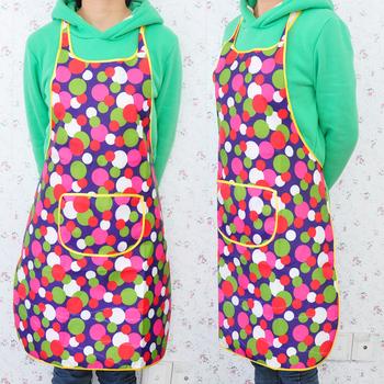 Fashion denim dot print waterproof apron e051