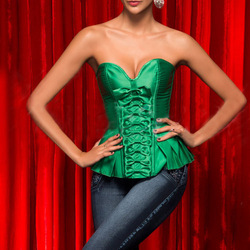 Free shipping 2013 new style Gree Tops Lace Up Sexy Strapless Satin Boned Bustier Corset S-2XL Lady Bow-knot(China (Mainland))
